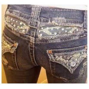 MissMe color Kansas camouflage boot cut jeans